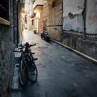 Bikes On Dark Street: Antalya, Turkey by Josh Wentz