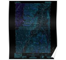 USGS Topo Map Oregon Haas Hollow 280118 1990 24000 Inverted Poster