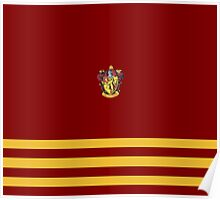 Gryffindor Pride Colours with Crest Poster