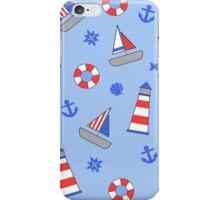 Nautical Theme Sailor Pattern iPhone Case/Skin