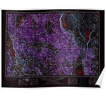 USGS Topo Map Oregon Klamath Falls 283330 1955 250000 Inverted Poster
