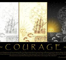 courage (tri-panel) by bangonthedrums