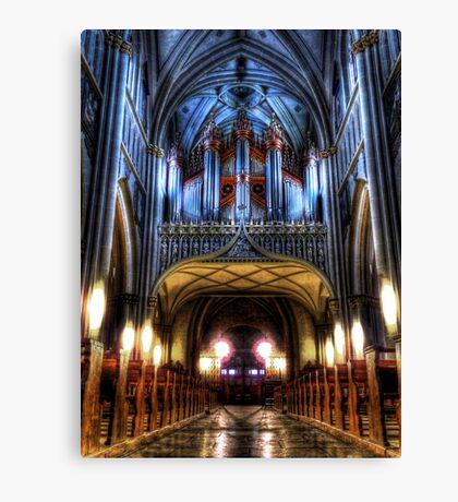 Pipe Organ - St Nicholas Cathedral Canvas Print