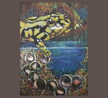 Australian  Corroboree Frog from a Pastel Painting  Baby Tee