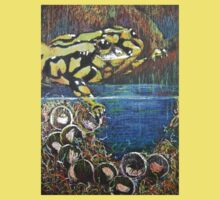 Australian  Corroboree Frog from a Pastel Painting  Kids Clothes