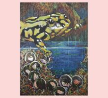 Australian  Corroboree Frog from a Pastel Painting  One Piece - Short Sleeve