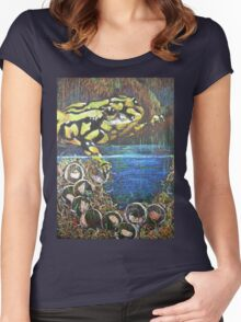 Australian  Corroboree Frog from a Pastel Painting  Women's Fitted Scoop T-Shirt