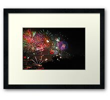 Sydney | New Years Eve 2010 | Fireworks 9pm Framed Print