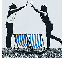 Deck chairs and Jumpers Photographic Print