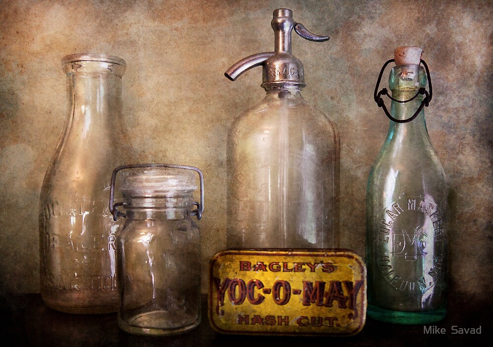 Bottle Collector - Container Collection  by Mike  Savad