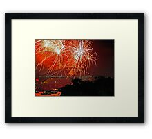 Sydney #3 | New Years Eve 2010 | Fireworks 9pm Framed Print