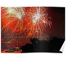Sydney #3 | New Years Eve 2010 | Fireworks 9pm Poster