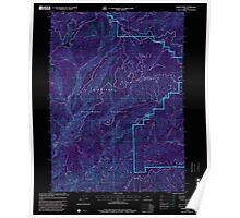 USGS Topo Map Oregon Hobson Horn 280218 1998 24000 Inverted Poster