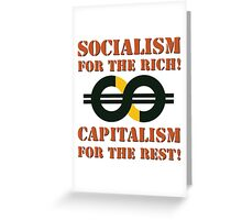 Capitalism & Socialism concept Greeting Card