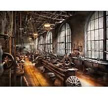 Machinst - A room full of Lathes  Photographic Print