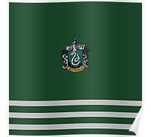 Slytherin Pride Colours with Crest Poster