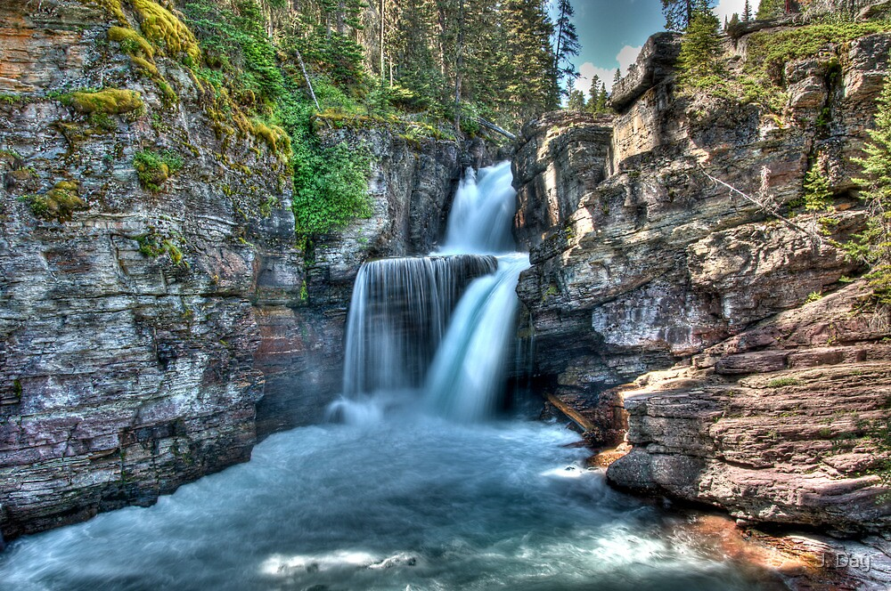 St. Mary Falls  by J. Day