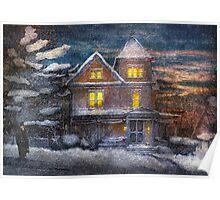 Winter - Clinton, NJ - A Victorian Christmas  Poster
