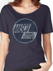 Distressed Masco Logo Women's Relaxed Fit T-Shirt