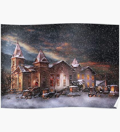 Winter - Clinton, NJ - Silent Night  Poster