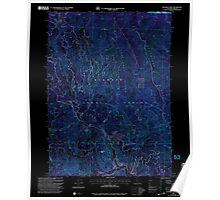 USGS Topo Map California Deadman Point 289808 2001 24000 Inverted Poster