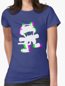Gli7ch Ca7 Womens Fitted T-Shirt
