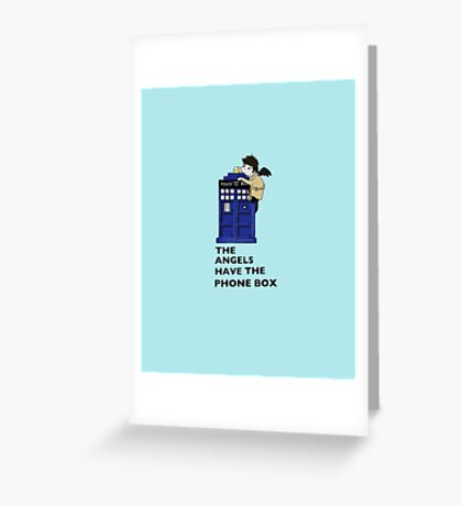 Castiel Has The Phone Box Greeting Card