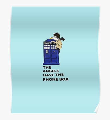 Castiel Has The Phone Box Poster