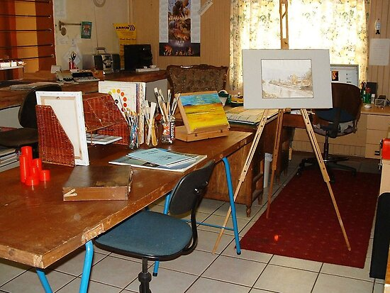 Where and how do you do your art? This is where it ALL happens - Maree by Maree  Clarkson
