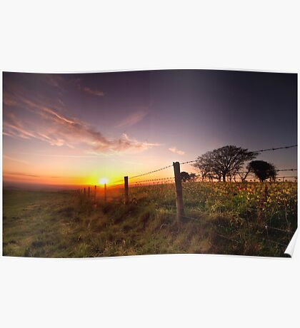 Sunset at Fontmell Down Poster