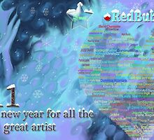 happy new year for all great  artists ☺☺☺☺☺ by sky   princess