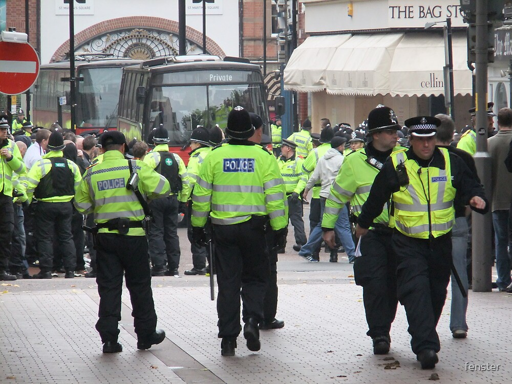 English Defence League Demo, Leicester by fenster