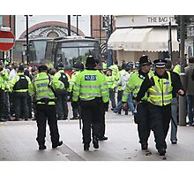 English Defence League Demo, Leicester Photographic Print
