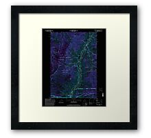 USGS Topo Map Oregon Squirrel Prairie 281607 1995 24000 Inverted Framed Print
