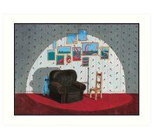 Two Chairs, A Nautical Tale and a Deep-sea Freak Art Print