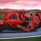 Casey Stoner on Ducati painting by PaulMeijering