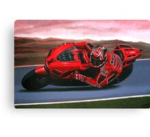 Casey Stoner on Ducati painting Canvas Print