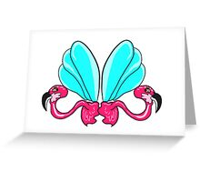 Retro Flamingo Greeting Card