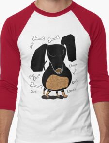 Sausage Dog Front Men's Baseball ¾ T-Shirt