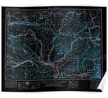 USGS Topo Map Washington Walla Walla 244515 1953 250000 Inverted Poster