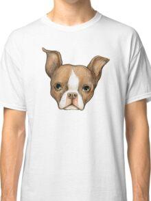 Brown Boston Terrier Classic T-Shirt