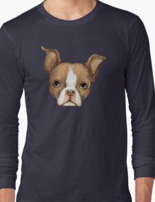 Brown Boston Terrier Long Sleeve T-Shirt