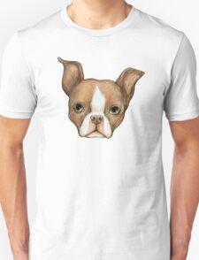 Brown Boston Terrier Unisex T-Shirt