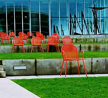 Red Chairs by Rebecca Staffin