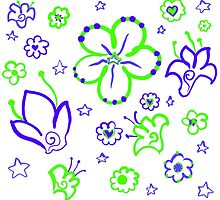 Retro Florals-Limeade Palette by NeonOf1986