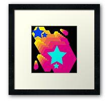 Retro-Star Geometry Framed Print