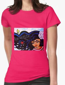 Frida / Mienteme / Lie to Me Womens Fitted T-Shirt