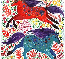 A Horse of Red and Blue by yetzenialeiva