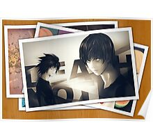 death note light L misa pictures anime manga shirt Poster