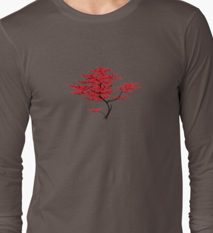 Natural Red Long Sleeve T-Shirt
